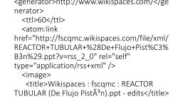 Wikispaces : fscqmc : REACTOR TUBULAR (De Flujo Pistón)