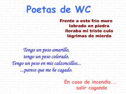 Poetas de WC - Xistes de l`Agustí