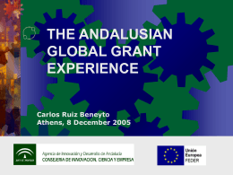 THE ANDALUSIAN GLOBAL GRANT EXPERIENCE