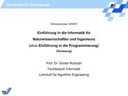 kap10b.pps - Lehrstuhl 11 Algorithm Engineering