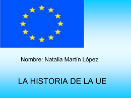 LA HISTORIA DE LA UE