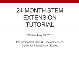 24-Month STEM Extension Information Session