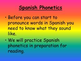 PHONETIC, PRONUNCIATION Practice