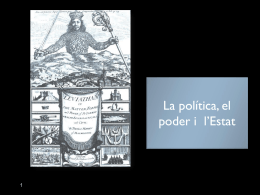 POLÍTICA, PODER I ESTAT Presentació PowerPoint