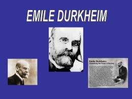Presentacion Biografía de Durkheim.pps