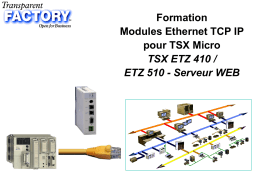 Transparent Factory - Stage ETHERNET - TSX Micro