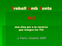 Presentació TAF Josep Lluis Fierro.