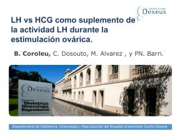 LH vs HCG como suplemento de la actividad LH durante la