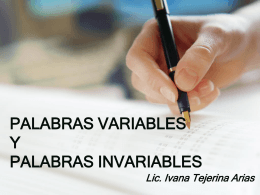 palabras invariables