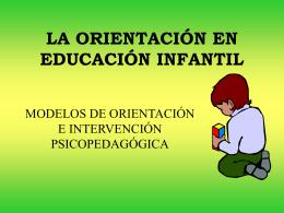 La Orientación en Educación Infantil.pps