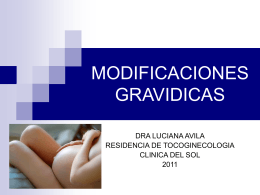 MODIFICACIONES GRAVIDICAS