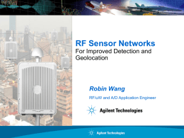 Agilent RF sensor networks for Improved Detection and