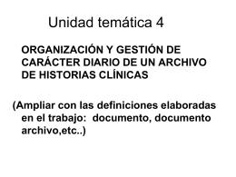 Concepto de documento, archivo y archivística