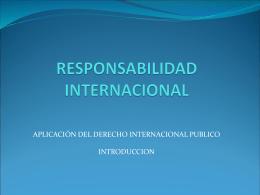 responsabilidad internacional - Derecho Internacional Público