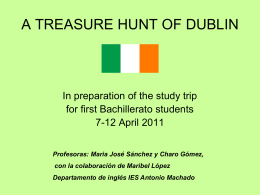 a treasure hunt of dublin