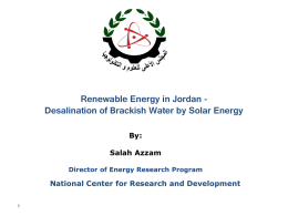 Renewable Energy in Jordan