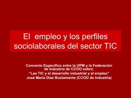 El empleo y los perfiles sociolaborales del sector TIC