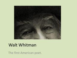 Walt Whitman presentation