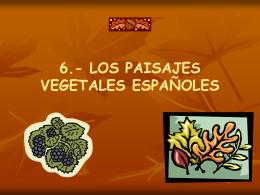 6.- los paisajes vegetales españoles