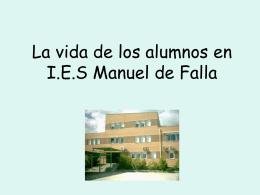 La vida de los alumnos en el Instituto de Manuel de Falla, Coslada