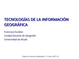 Presentación - Unidad Docente de Geografía