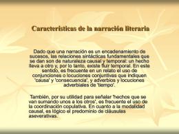 Características+de+la+narración+literaria