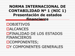 NORMA INTERNACIONAL DE CONTABILIDAD Nº 1 (NIC 1