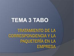 tratamiento de la correspondencia y la paquetería en la empresa