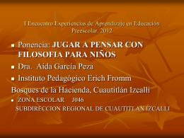 NOMBRE: Dra. Aída García Peza