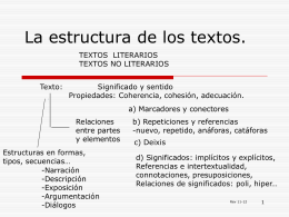 La estructura de los textos.