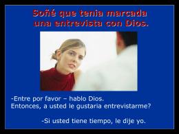 Entrevista con Dios www.AvanzaPorMas.com