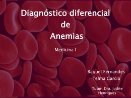 13 – Diagnóstico diferencial de anemias
