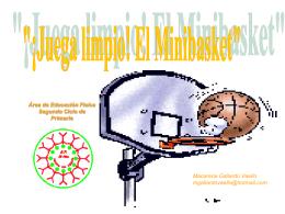 Juega limpio: el minibasket