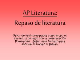 Repaso de literatura
