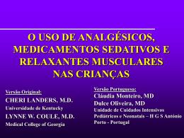 Sedação, Analgesia e Bloqueio Neuromuscular