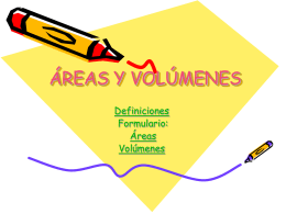 AREAS Y VOLUMENES