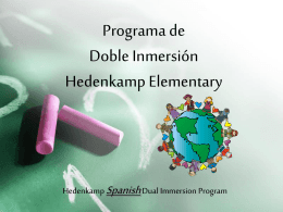 Dual Immersion PowerPoint