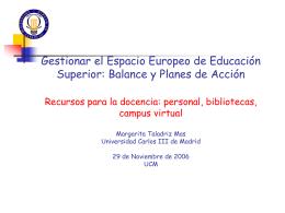 BIBLIOTECAS BIBLIOTECAS UNIVERSITARIAS AL SERVICIO DE