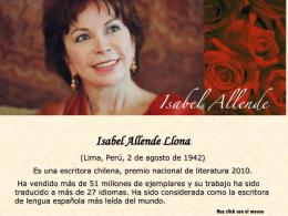 Isabel Allende - REVALORIZANDO EL TRANSCURRIR DE LA VIDA