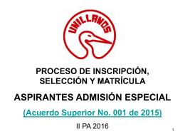 Diapositiva 1 - Universidad de los Llanos