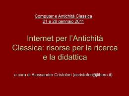 Scarica - Dipartimento di Filologia Classica e Italianistica