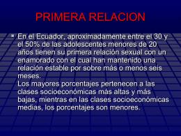 LA PRIMERA RELACIÓN presentación Powerpoint