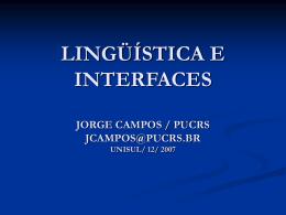 Semântica / Pragmática - Jorge Campos da Costa