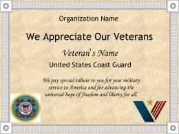 Organization Name Certificate of Appreciation
