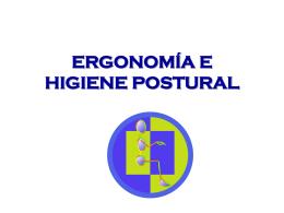 Higiene postural y manejo de cargas