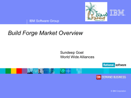 Build Forge Market Overview