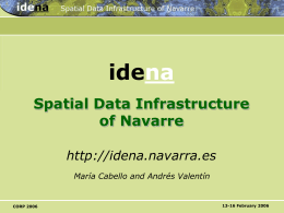 IDENA Spatial Data Infrastructure of Navarre