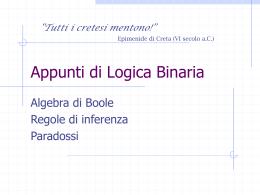 Appunti di Logica Binaria