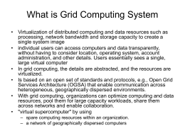 What is Grid Computing System