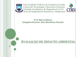 Impactos Ambientais - Universidade Federal de Campina Grande
